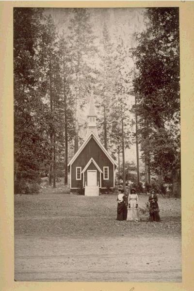 Photo of Yosemite Chapel by the Four Mile Trail             (author unknown)